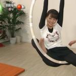 高見侑里アナがサーカスの練習でお股パックリ