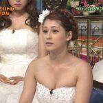 画像☆ダレノガレ明美さんのウェディングドレスおっ○いが溢れだしそうwwwww