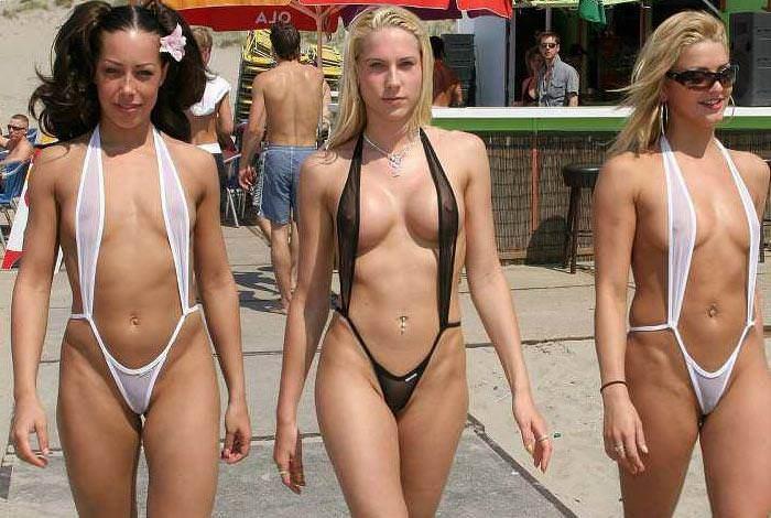 海外はヌーディストビーチじゃなくてもこういう過激えろミズ着をみんな着てるからえろい件wwwwwwwwww(写真あり)