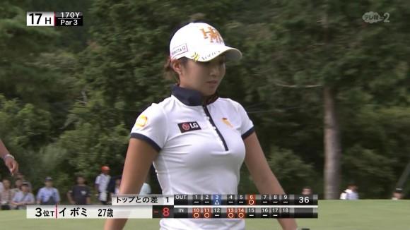 イ・ボミの着衣美巨乳にJAPAN人ゴルファーのパンツ丸見えと見所ヌキ満載のゴルフ中継は超最高だなwwwwwwwwww(TVえろキャプ写真あり)
