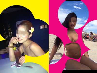【エロ画像】シロウト小娘のインスタを水玉アイコラ加工して裸にしたえろ画像33枚