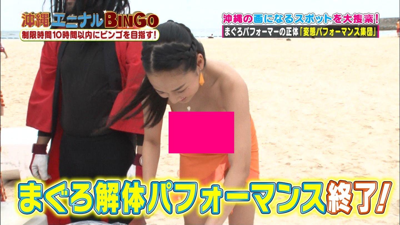 グラドル高嶋香帆がビキニでポ少女寸前の強烈胸チラを地上波TVで披露wwwwwwwwww(えろキャプ写真あり)