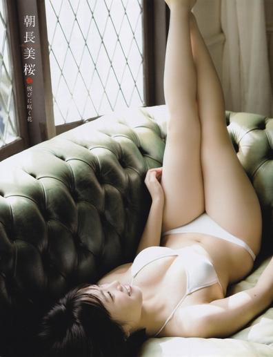 HTK48朝長美桜えろ写真☆むっちり美巨乳のえろ体が拝めるグラビアがえろいwwwwwwwwww