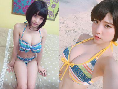 根本凪(18)GカップJKアイドルの水着グラビアエロ画像60枚・1枚目の画像