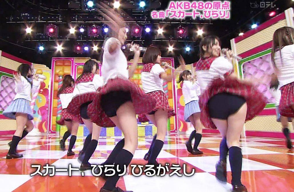 歌番組ローアングルパンチラ エロ画像25枚!AKB48等のアイドル達の下半身がマジ抜けるwww・9枚目の画像