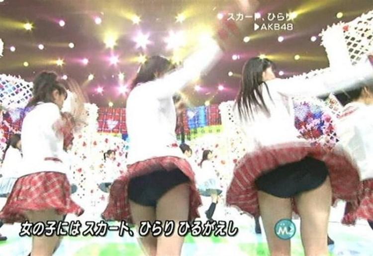 歌番組ローアングルパンチラ エロ画像25枚!AKB48等のアイドル達の下半身がマジ抜けるwww・16枚目の画像