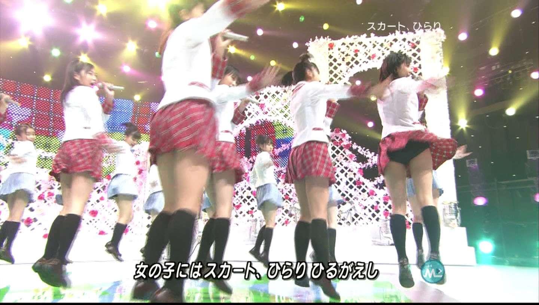 歌番組ローアングルパンチラ エロ画像25枚!AKB48等のアイドル達の下半身がマジ抜けるwww・17枚目の画像