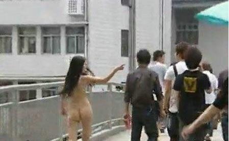 中国人 全裸ヌード露出狂エロ画像25枚!日本とはまた違う狂気を感じる露出プレイwww・26枚目の画像