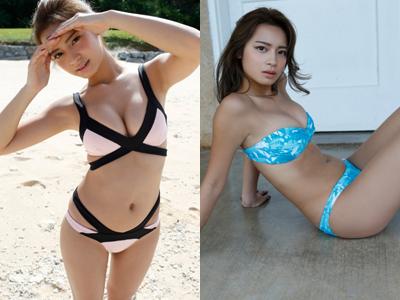 遠山茜子の巨乳化したビキニ水着姿のグラビアエロ画像46枚・1枚目の画像
