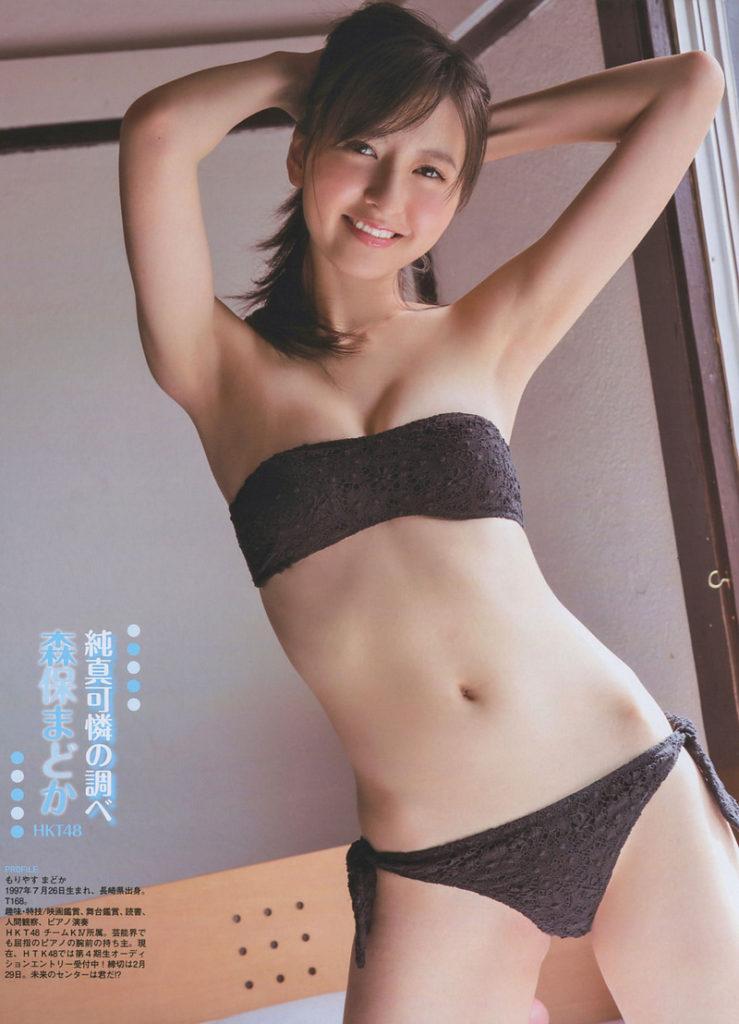 HKT48森保まどか(20)の水着グラビア&アイコラエロ画像60枚・3枚目の画像