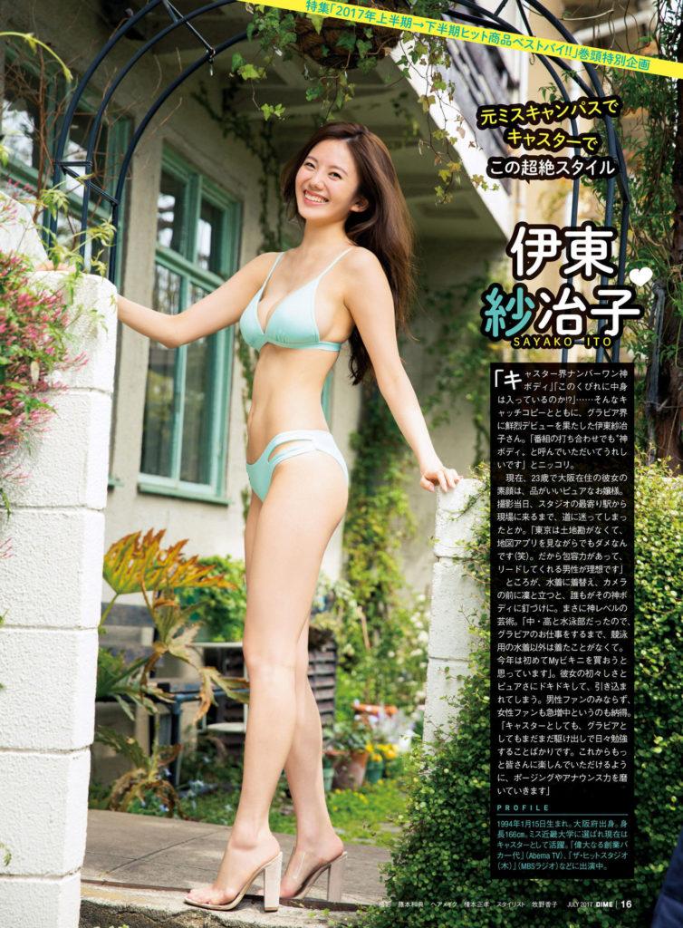 伊東紗冶子(23)Gカップキャスターの水着グラビア画像60枚・26枚目の画像