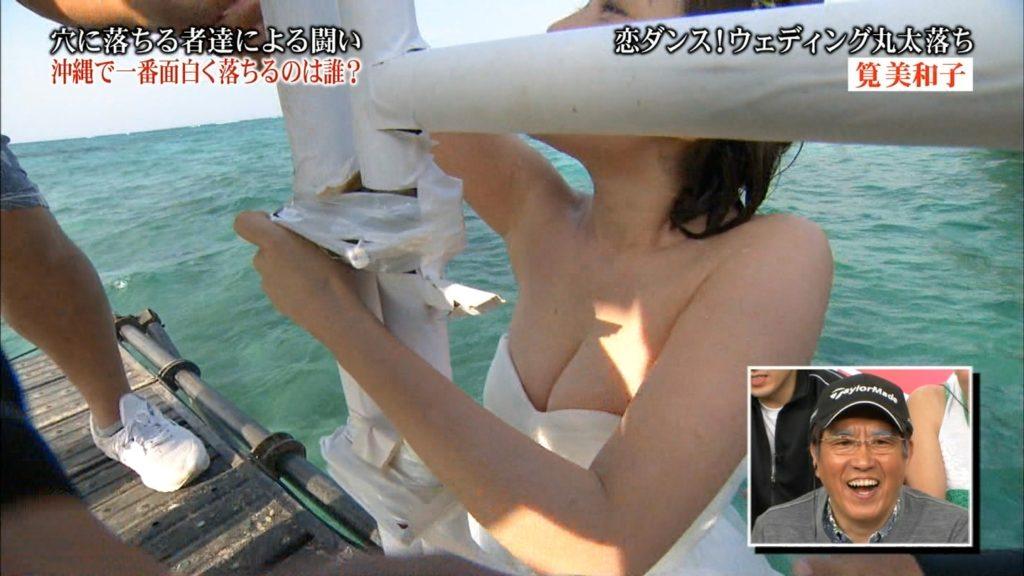 永久保存版!筧美和子の巨乳おっぱいポロリ放送事故エロ画像100枚・20枚目の画像