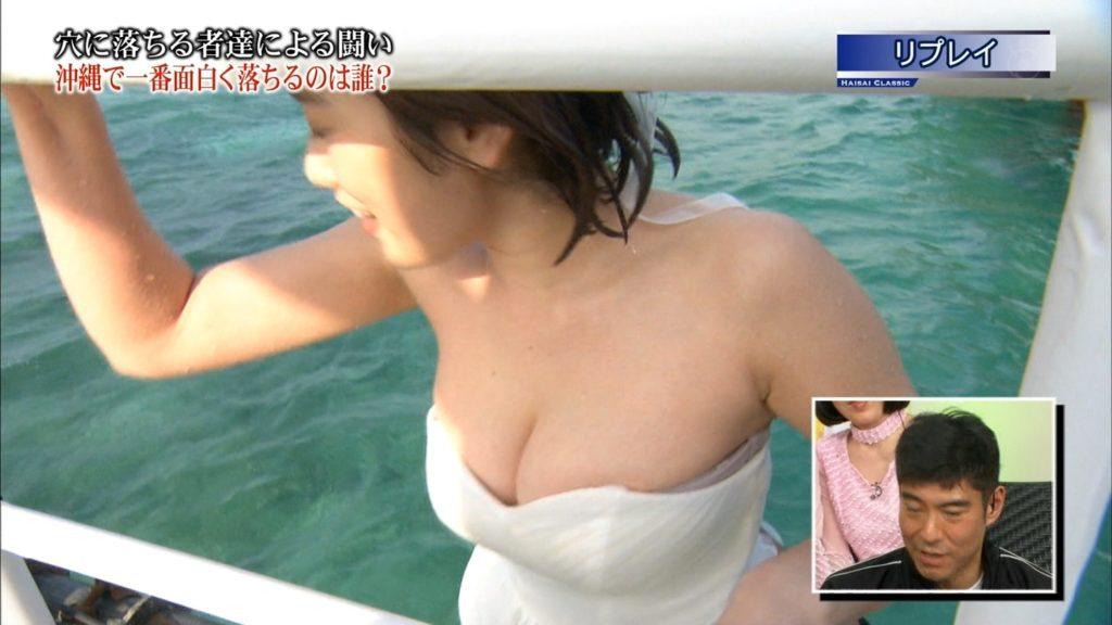 永久保存版!筧美和子の巨乳おっぱいポロリ放送事故エロ画像100枚・29枚目の画像