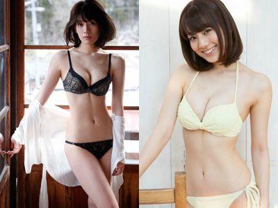 【エロ画像】佐藤美希(24)Fカップモデルのヌけるミズ着グラビアえろ画像70枚
