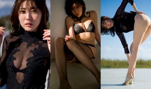 【エロ画像】木崎ゆりあ(21)の上裸ぬーどグラビア&アイコラえろ画像100枚