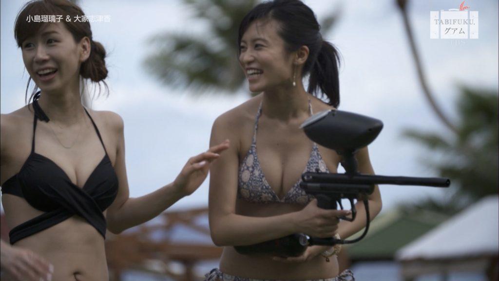小島瑠璃子&大家志津香のタビフクで見せたすけべミズ着えろキャプ写真35枚