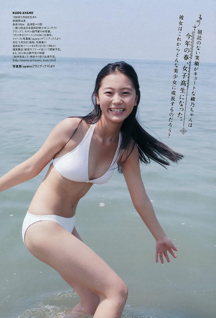 工藤綾乃(20)盗撮された国民的美少女コンテストグランプリ女優のエロ画像17枚・2枚目の画像