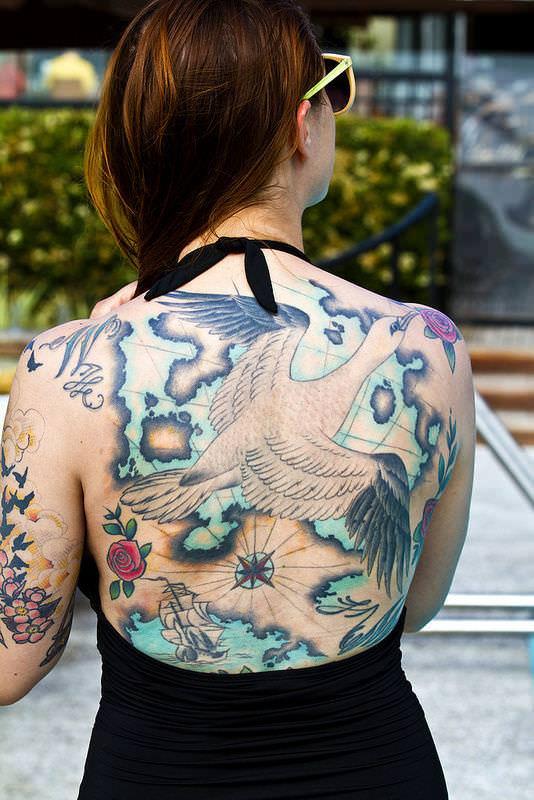 アートなん?タトゥー大量外国人のヌードエロ画像35枚・18枚目の画像