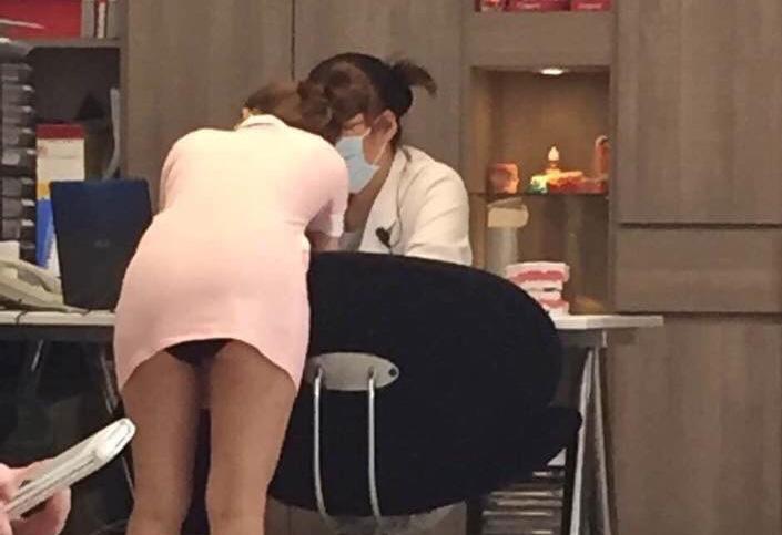 フウゾク店化…☆台湾のミニスカ歯科衛生士のえろ写真18枚