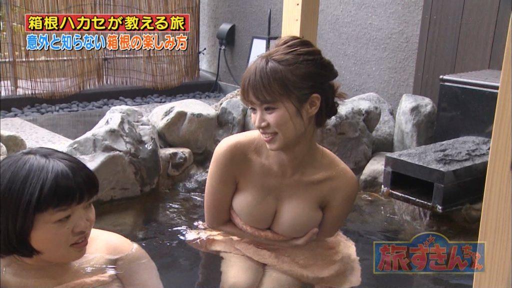 菜乃花(27)のハミ乳Iカップの入浴エロキャプ画像55枚