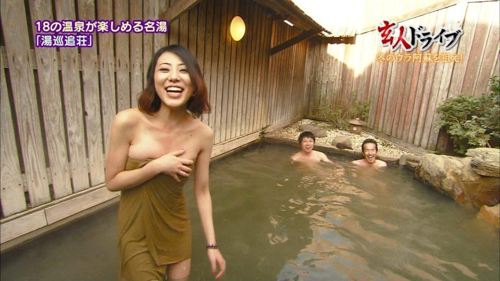 ハプニング不可避のTV入浴シーンのエロ画像35枚・2枚目の画像