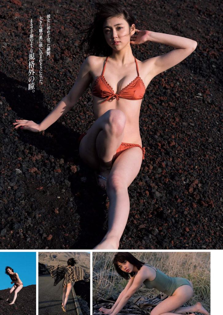 女優・山谷花純(20)のスレンダー水着グラビアエロ画像40枚・5枚目の画像