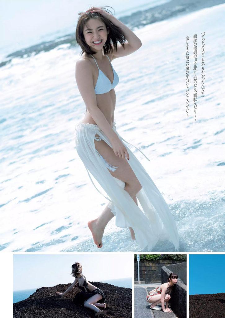 女優・山谷花純(20)のスレンダー水着グラビアエロ画像40枚・6枚目の画像
