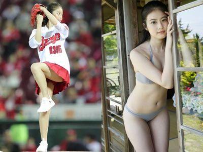 【エロ画像】今田美桜(20)のミズ着グラビア&始球式パンチラえろ画像42枚