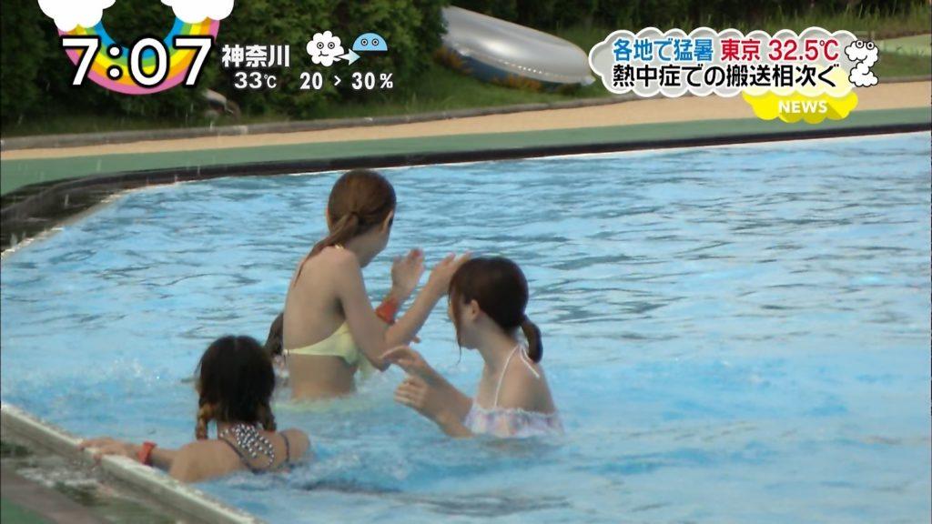 夏はTVで簡単に水着娘が拝めるし最高!エロキャプ画像31枚・12枚目の画像