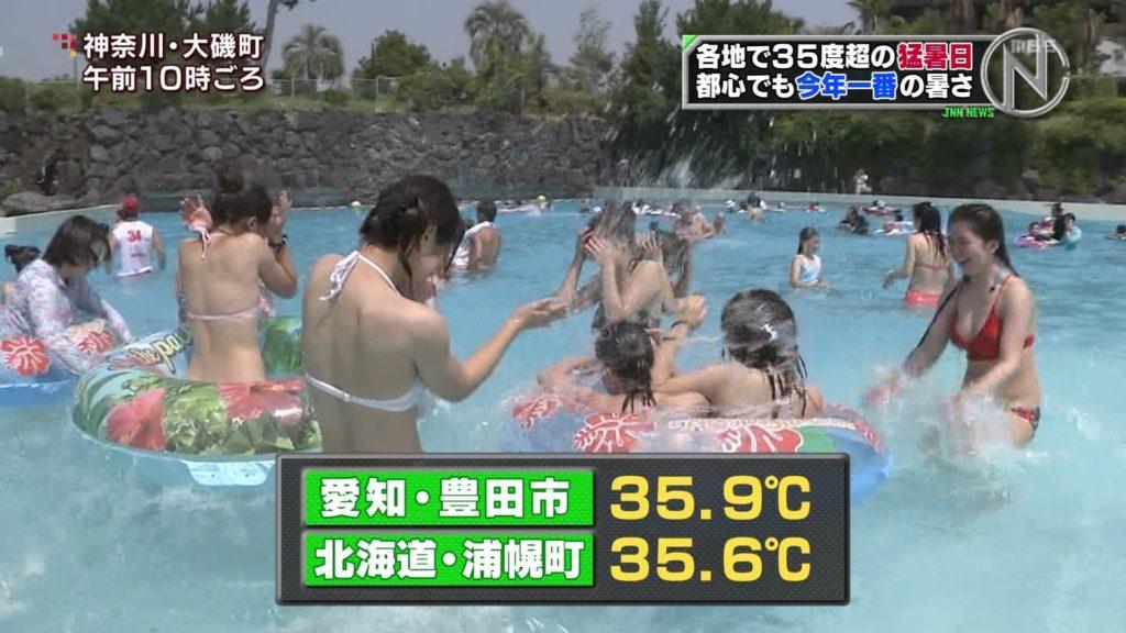 夏はTVで簡単に水着娘が拝めるし最高!エロキャプ画像31枚・22枚目の画像