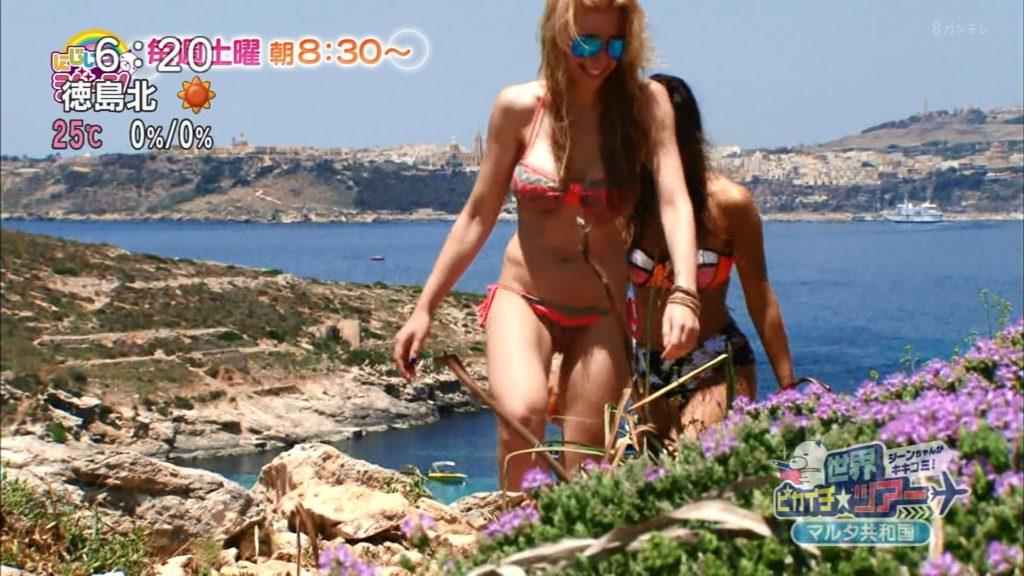 夏はTVで簡単に水着娘が拝めるし最高!エロキャプ画像31枚・36枚目の画像