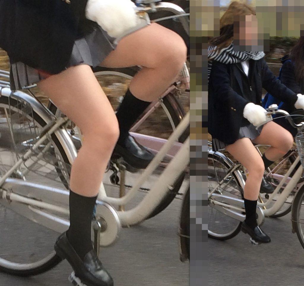 自転車通学中のJK娘の盗撮エロ画像30枚・11枚目の画像