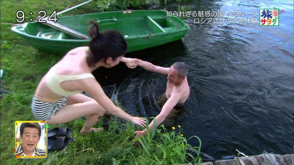 旅サラダガールズ・吉倉あおい(22)の胸チラエロ画像36枚・18枚目の画像