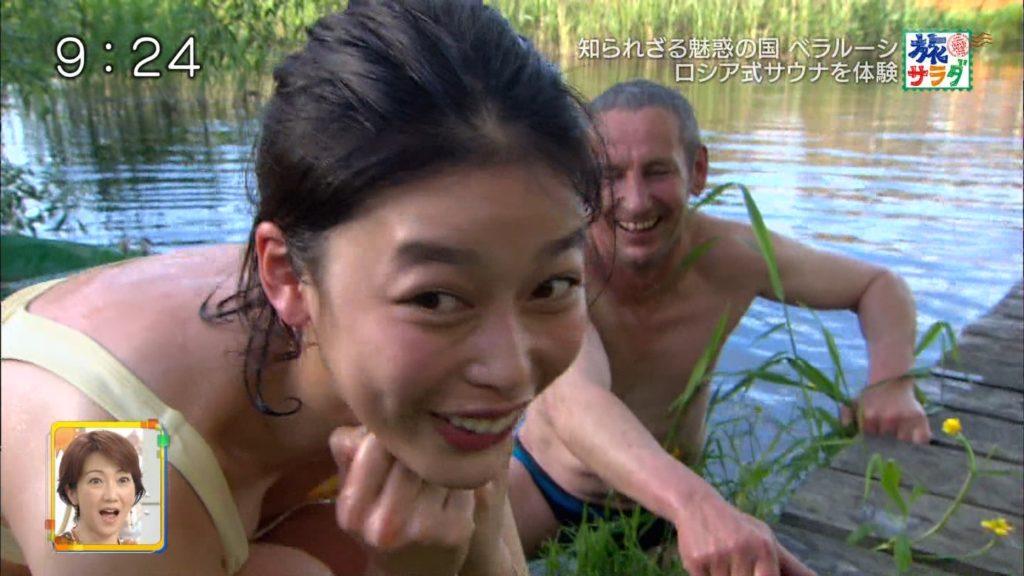 旅サラダガールズ・吉倉あおい(22)の胸チラエロ画像36枚・37枚目の画像