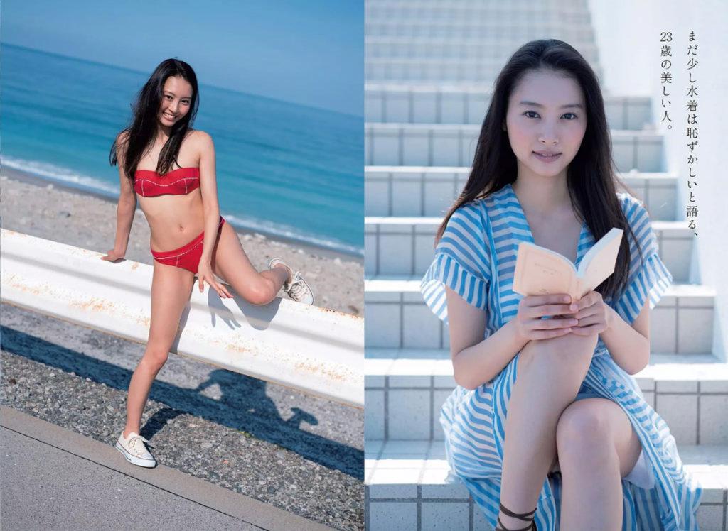 山下永夏(23)貧乳スレンダー美女の最新グラビアエロ画像32枚・5枚目の画像