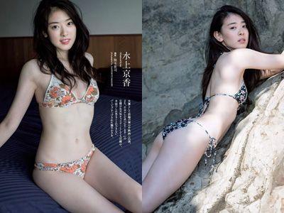 水上京香(22)朝ドラ女優の抜ける水着グラビアエロ画像46枚・1枚目の画像