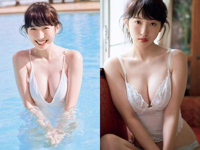 元Dream5日比美思(19)の色白巨乳グラビアエロ画像53枚・1枚目の画像