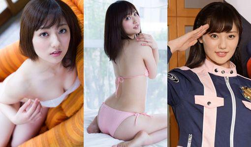 【エロ画像】奥山かずさ(23)スーパー戦隊新ヒロインのミズ着グラビア画像44枚