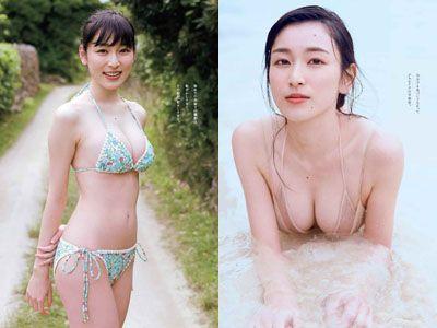 宮下かな子(22)の初水着グラビアが抜けるエロ画像33枚・1枚目の画像