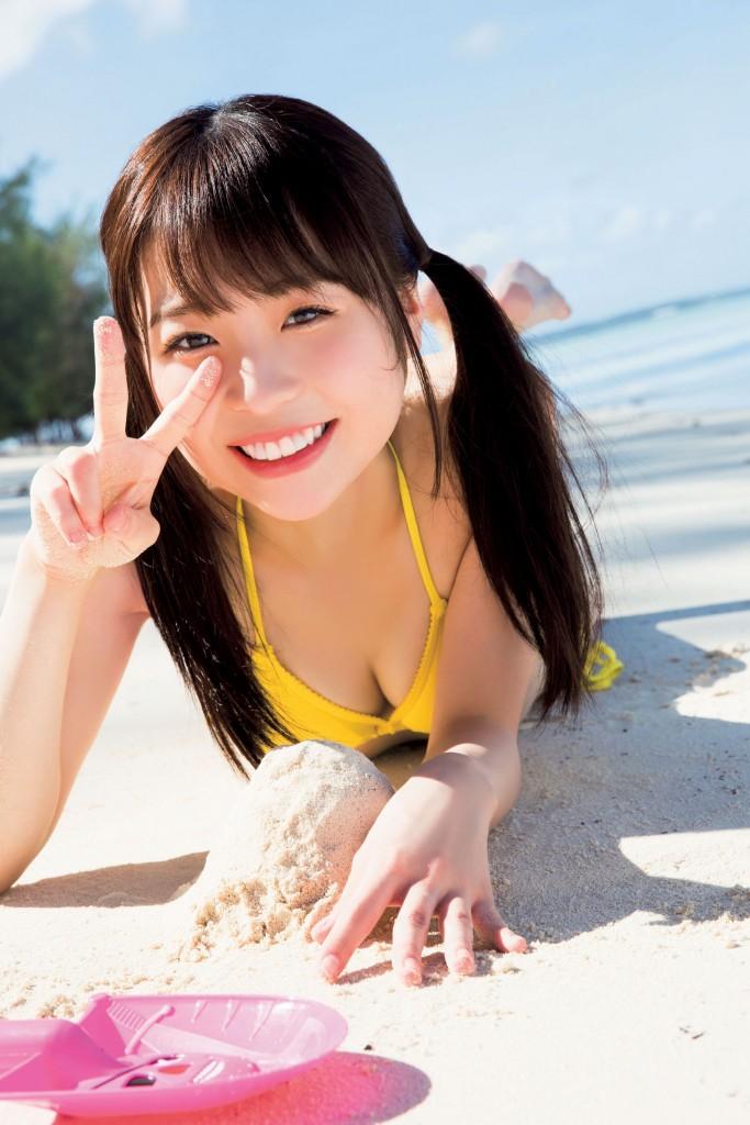 池田優花(17)の初水着グラビアが抜けるエロ画像30枚・5枚目の画像