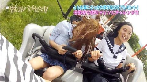 芸能お宝画像★板野と小島のジェットコースターの風圧でおっぱいくっきり見えすぎwwww・23枚目の画像
