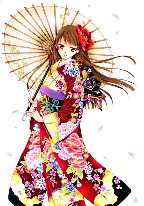 和服姿の女の子の虹画像★うん。艶やか・23枚目の画像