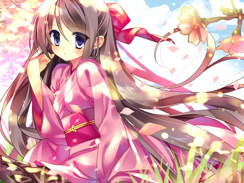 和服姿の女の子の虹画像★うん。艶やか・16枚目の画像