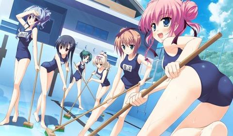 スク水がエロ過ぎるから日本の文化に認定wwwwww★2次元スク水エロ画像・38枚目の画像