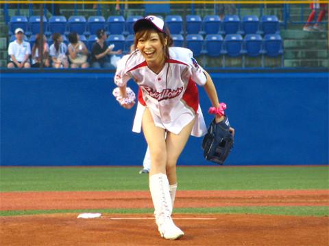 始球式のエロさが異常wwwwww★芸能人始球式エロ画像!・44枚目の画像