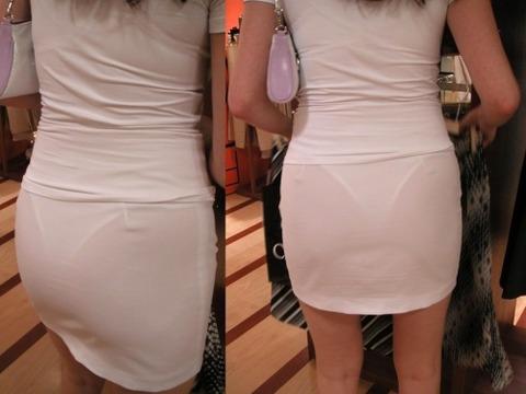 パンツが柄まで透けちゃってますがwwwwww★素人街撮りエロ画像・21枚目の画像