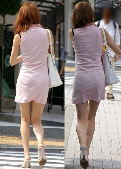 パンツが柄まで透けちゃってますがwwwwww★素人街撮りエロ画像・3枚目の画像