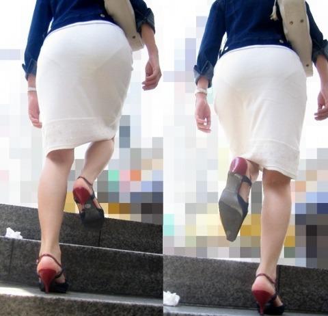 パンツが柄まで透けちゃってますがwwwwww★素人街撮りエロ画像・18枚目の画像