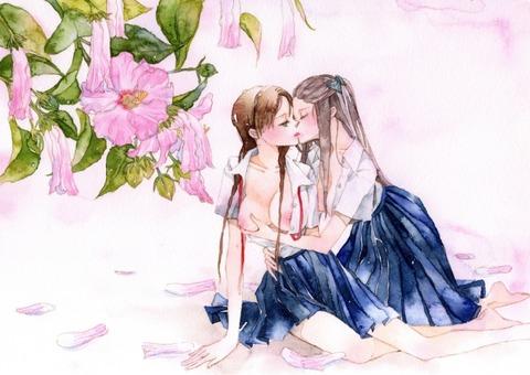 GIF有り★女の子同士の密着wwwww★2次元百合エロ画像・29枚目の画像