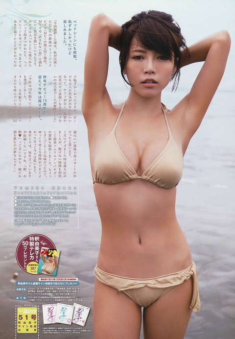 釈由美子が36歳のくせにビキニ姿がエロすぎるwwwwww★釈由美子エロ画像・12枚目の画像